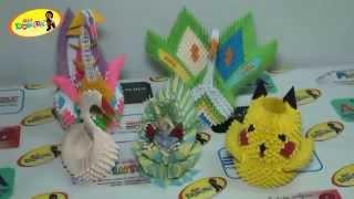 DIY Origami Modular 3D Cisne Papiroflexia, Easy Crafts