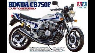 Стендовый моделизм. HONDA CB750F CUSTOM TUNED 1/12 ч6