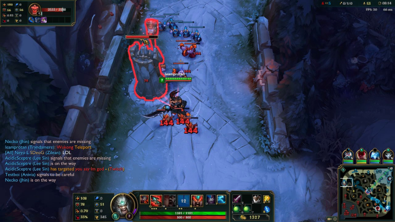 Zero Damage Tryndamere The Revolution League Of Legends Needed
