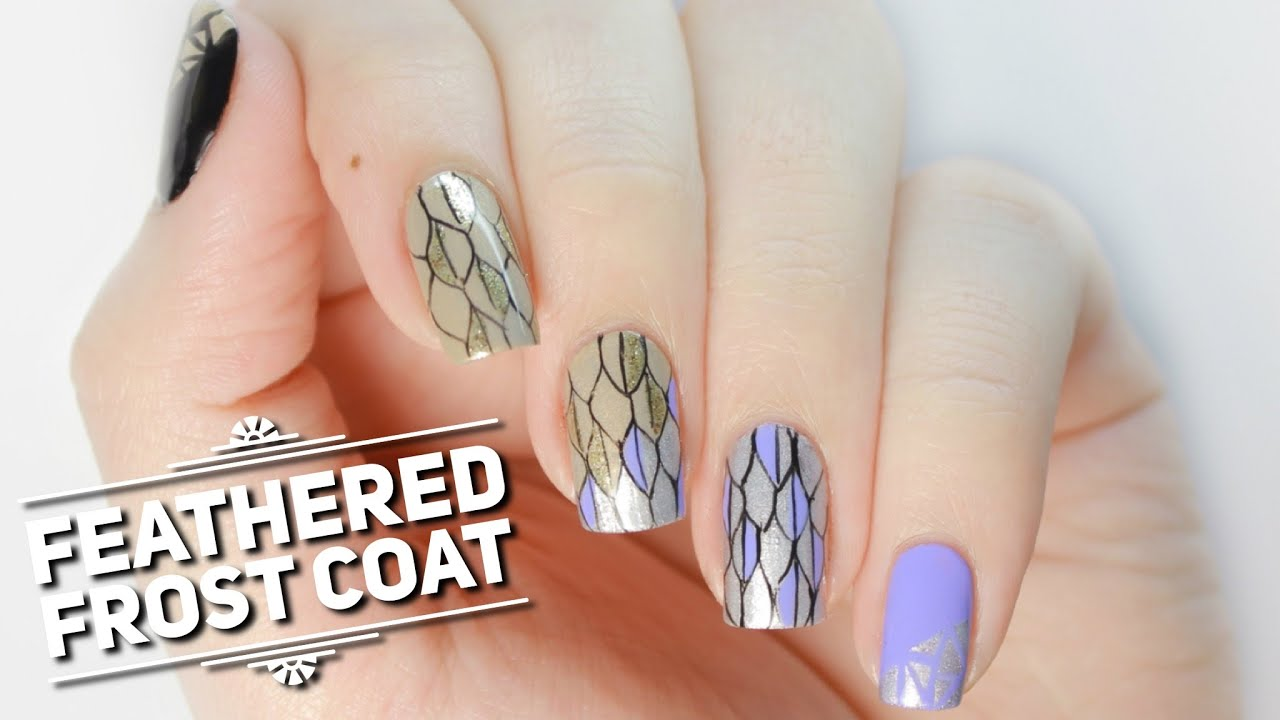 Feathered Frost Coat Nail Art Design | The Huntsman: Winter\'s War ...