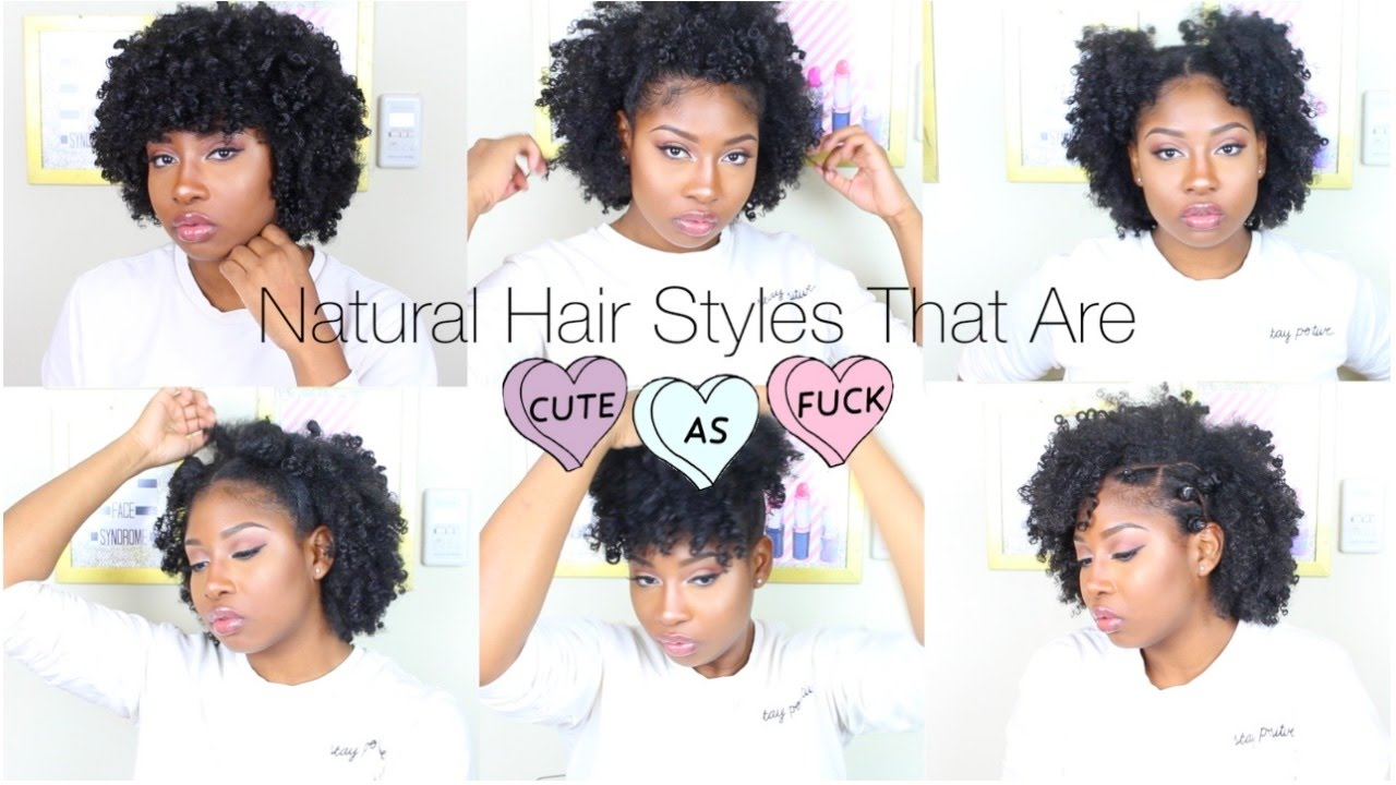 Natural Hairstyles That Are Cute AF - YouTube