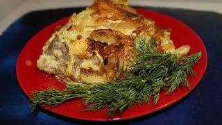 Мясо запеченное с картофелем и кукурузой