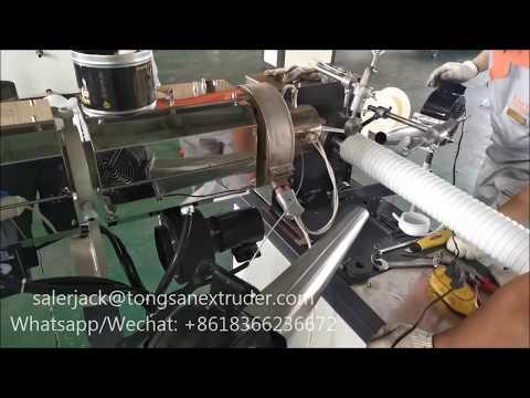 PP Polypropylene Shrinkable Steel Wire Exhaust Hose   Flexible  Ventilation Pipe Making Machine