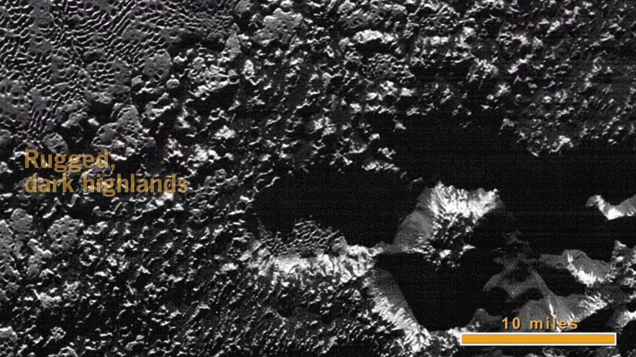 Kerberos Moon Of Plluto: New Horizons' Extreme Close-Up Of Pluto's Surface (no