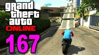 grand theft auto 5 multiplayer part 167 crazy motorcycle race gta online let s play