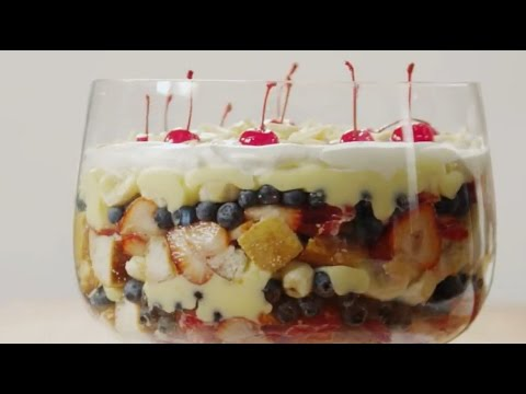 Dessert Recipes – How to Make English Trifle