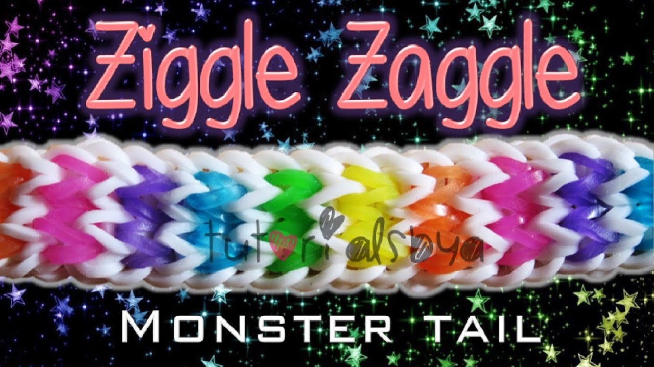 New Ziggle Zaggle Monster Tail Rainbow Loom Bracelet