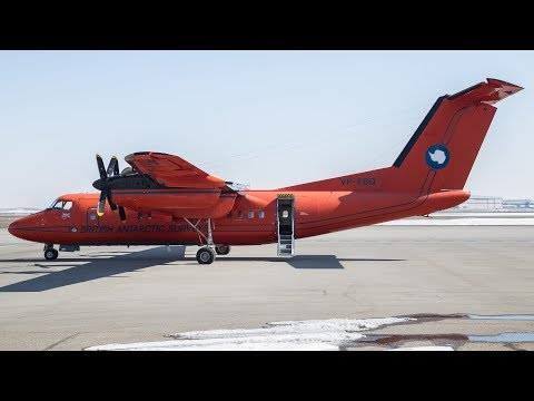British Antarctic Survey De Havilland Canada Dash 7 Landing at Calgary Airport