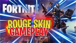NEW SKIN Fortnite Battle Royale (Rouge Skin Gamplay)