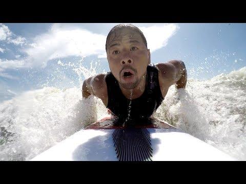Go surfing with Shinsuke Nakamura as he prepares for SummerSlam