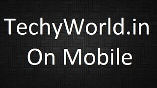 TechyWorld in Forum with TapaTalk on Mobile