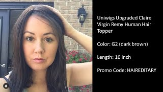 Uniwigs Upgraded Claire Topper - Blending Your Natural Hair with a Hair Piece