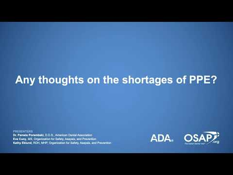 COVID-19: Shortages Of Personal Protective Equipment (PPE)
