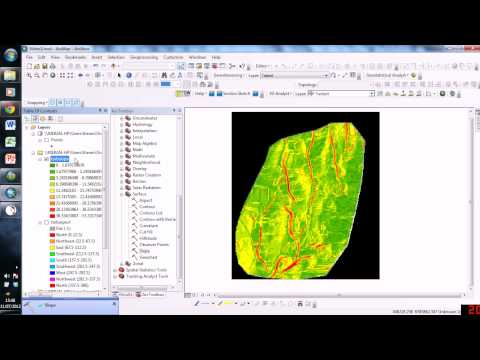 Geological Orientation Data From Surfaces in ArcGIS
