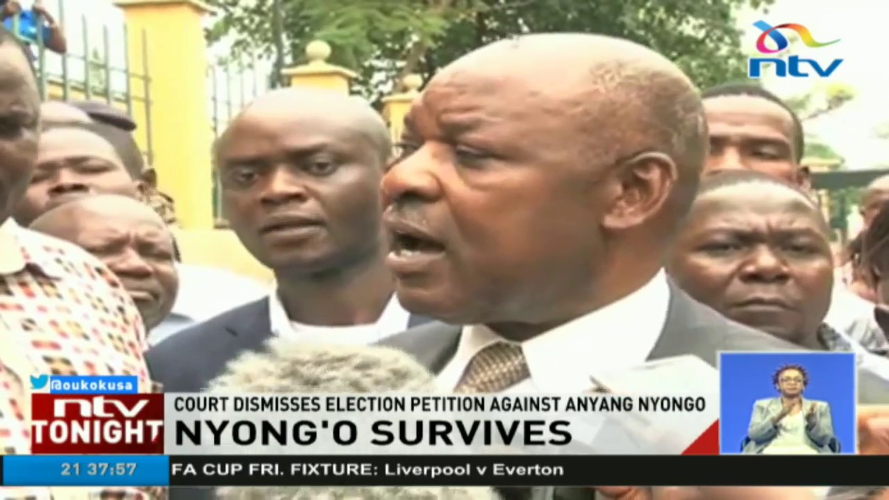 Court dismisses election petition against Governor Anyang' Nyong'o