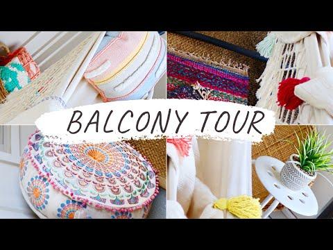 APARTMENT BALCONY TOUR | ON A BUDGET DECOR