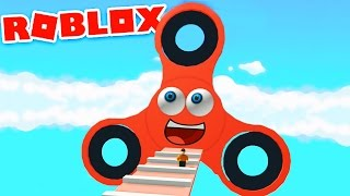 ESCAPE THE FIDGET SPINNER IN ROBLOX! | Roblox Fidget Spinner Obby