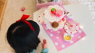 ケーキ屋さんごっこ遊び!失敗したら赤ちゃん妖精がおもちゃのケーキをプレゼント!?Pretend Play Cake Shop Toys