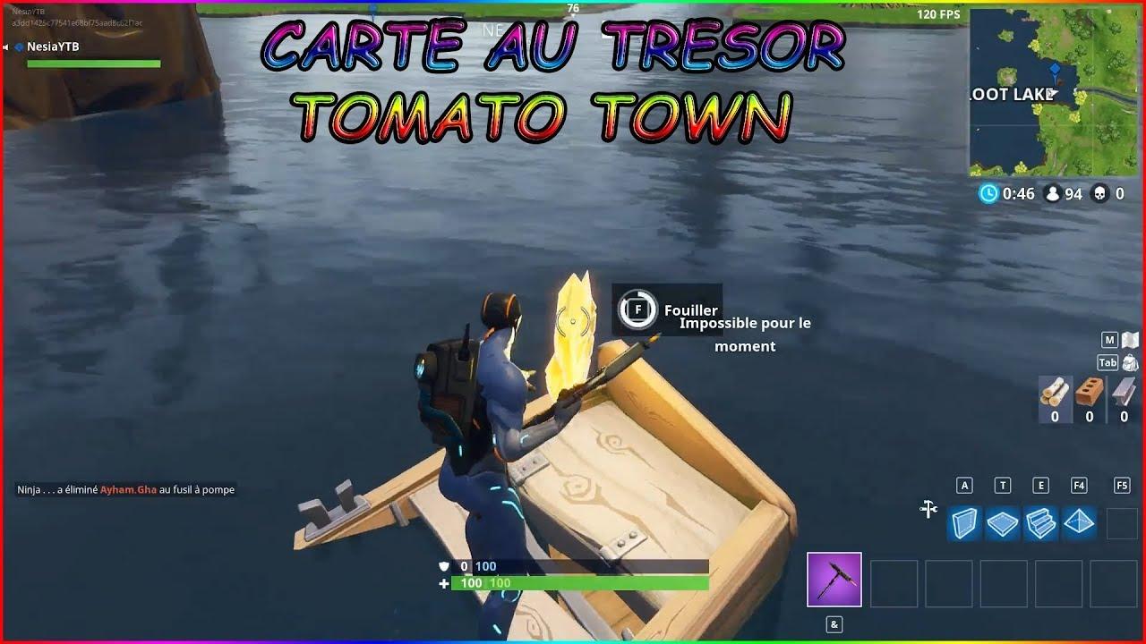 suivre la carte au tresor tomato SUIVRE LA CARTE AU TRÉSOR TROUVÉE A TOMATO TOWN ! FORTNITE   YouTube