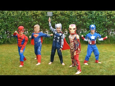 Thumbnail: Super Hero Costumes: Spiderman, Batman, Superman, Ironman, and More