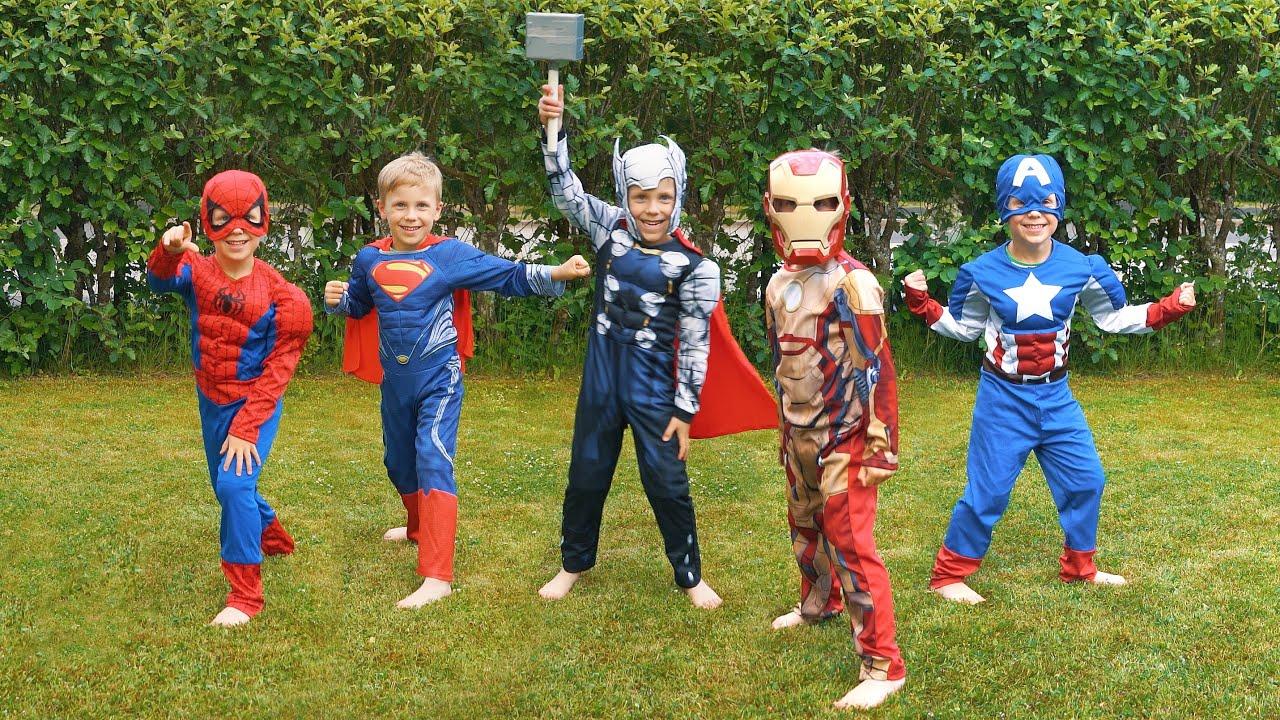 Super Hero Costumes Spiderman Batman Superman Ironman and More - YouTube  sc 1 st  YouTube & Super Hero Costumes: Spiderman Batman Superman Ironman and More ...