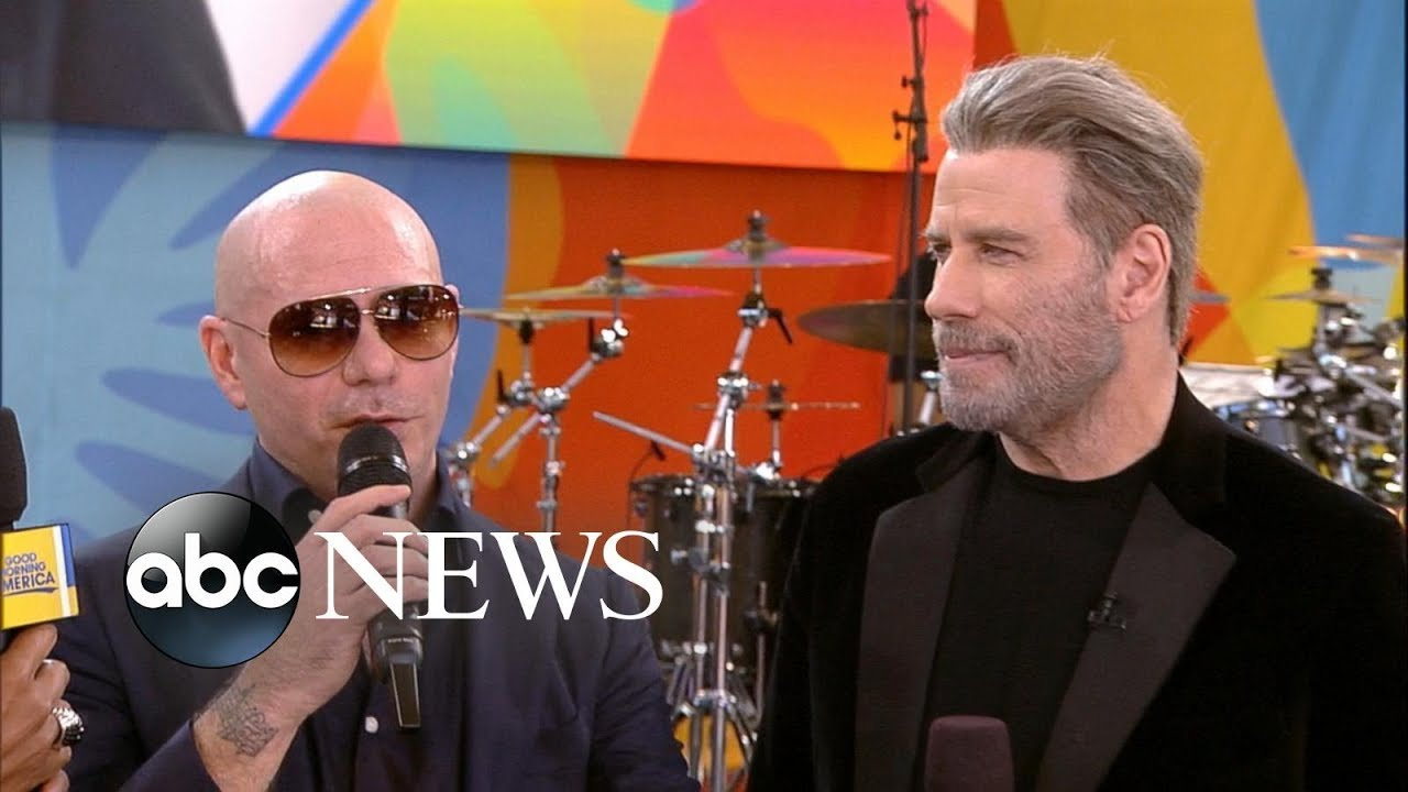 John Travolta still dancing in Pitbull's '3 to Tango' music