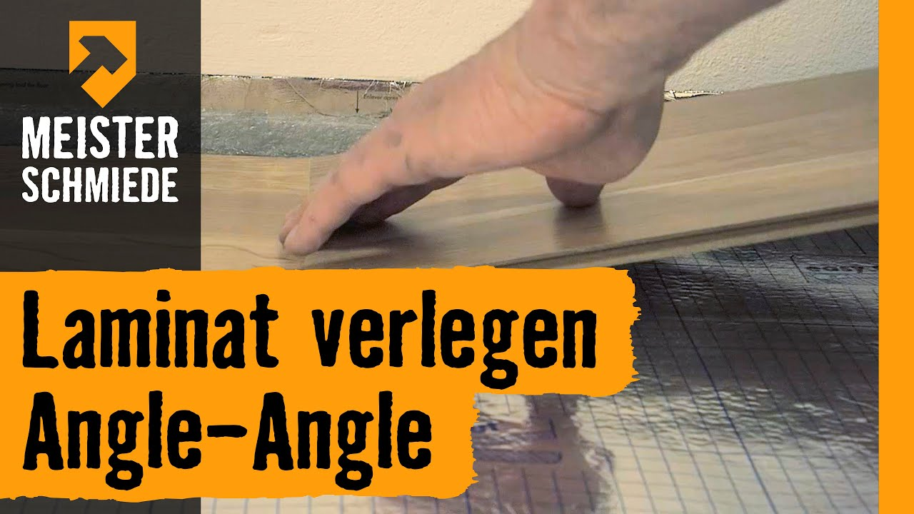 laminat verlegen angle angle hornbach meisterschmiede youtube. Black Bedroom Furniture Sets. Home Design Ideas