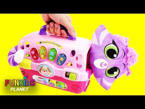 Thumbnail: Puppy Dog Pals Hissy Cat & Dog Carriers Playset - Learn Color Videos For Kids