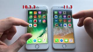 iPhone 6 ios 11.3 Official vs 10.3.3 ! Speed Test