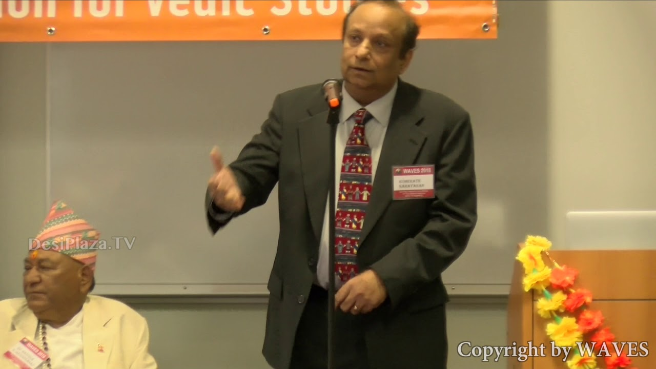 The conference chair Dr. Narayanan Komerath, professor of aerospace engineering, at WAVES Conference