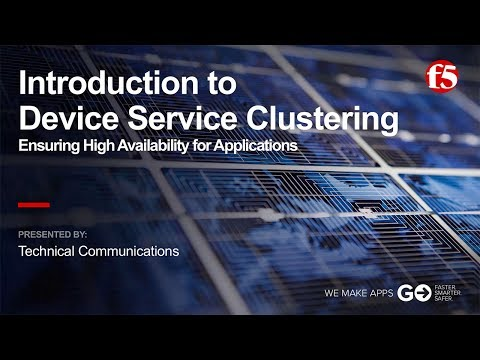 BIG-IP Device Service Clustering - Part 1: Introduction