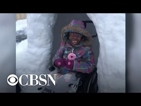 None - Good News: Dad Builds Wheelchair-Accessible Igloo For His Kids