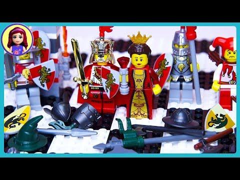 LEGO Chess Set Kingdoms Castle Battle Review Build Setup & Play - Kids Toys