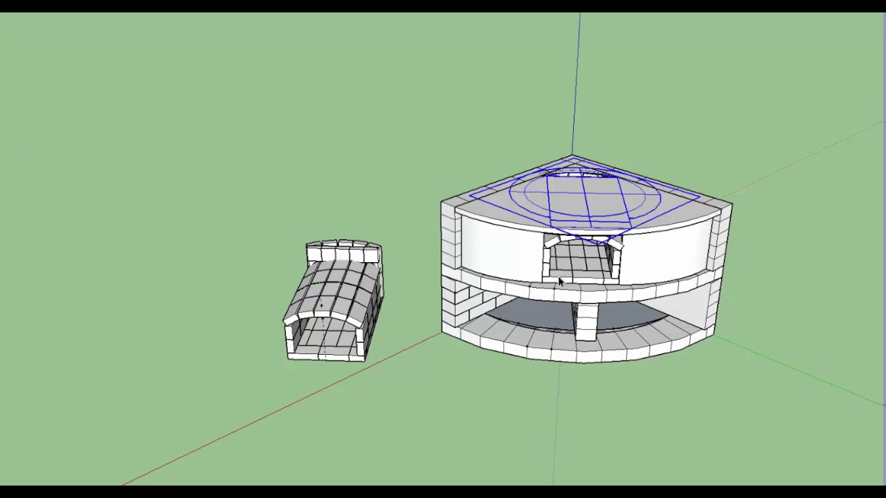 Construir un horno de le a dise o en 3d video4 for Horno de lena con hornilla