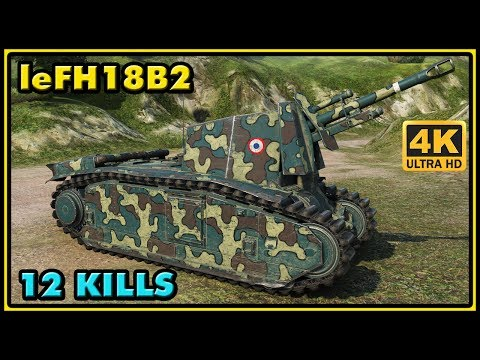 105 leFH18B2 - 12 Kills - 2,5K Damage - 1 VS 4 - World of Tanks Gameplay