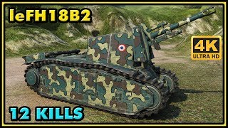 105 leFH18B2 - 12 Kills - 2,5K Damage - 1 VS 4 - World of Tanks Gameplay