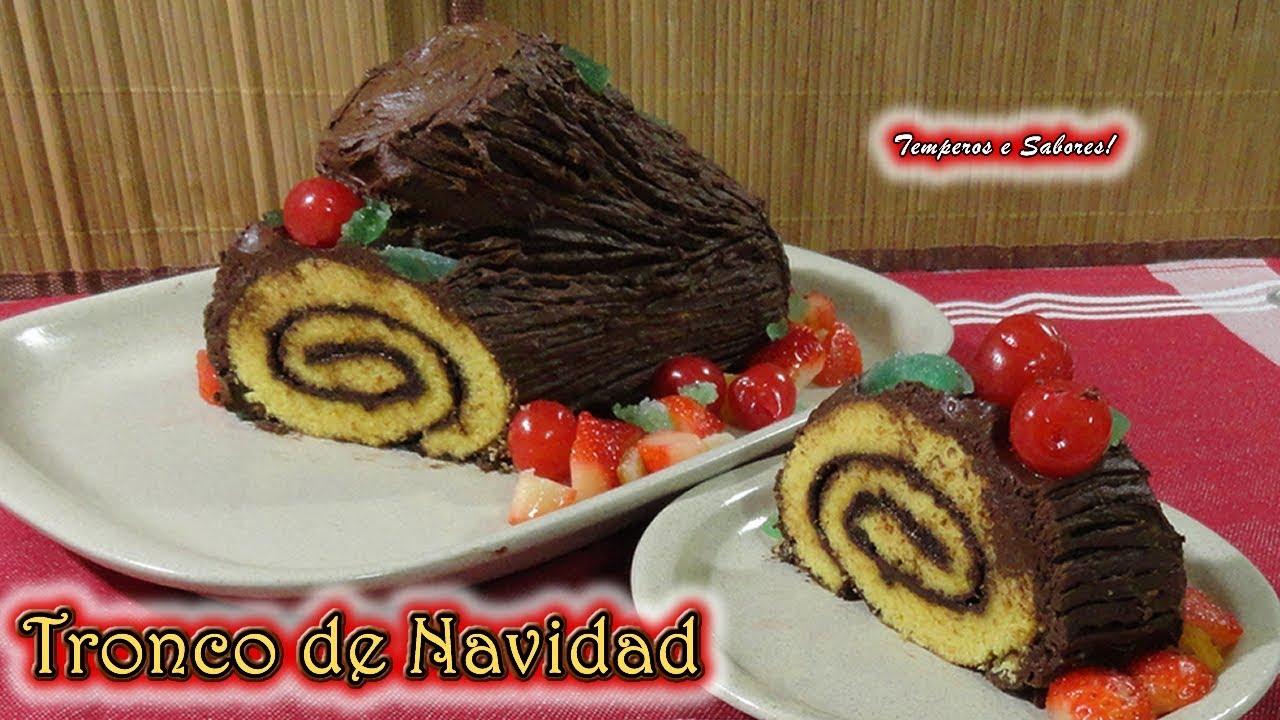 Tronco de navidad postre especial para la mesa navide a - Postre especial navidad ...