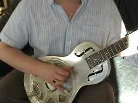 The RESOLIAN - Parlor size Republic resonator guitar, steel body.