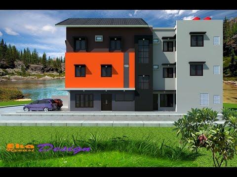 jasa desain arsitek rumah minimalis modern - kos kosan