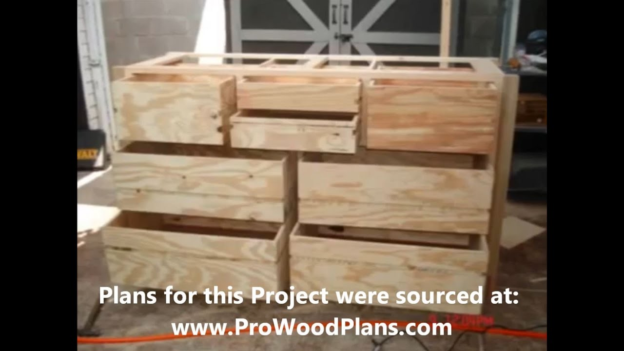 Wood Dresser Plans How To Build A Diy Timelapse Woodwork Of Wooden Timber You