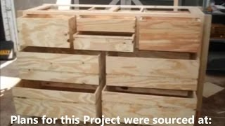Wood Dresser Plans How To Build A Dresser Diy Timelapse Woodwork Build Of A Wooden Timber Dresser