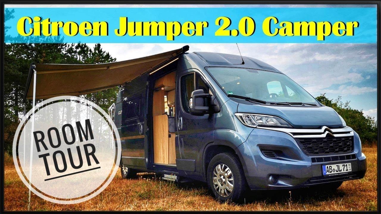 citroen jumper 2 0 camper room tour clever vans camper youtube. Black Bedroom Furniture Sets. Home Design Ideas