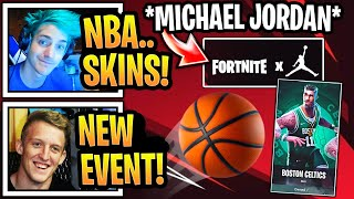 "Streamers React to *NEW* ""Michael Jordan X Fortnite"" EVENT!!! NEW NBA SKINS COMING!"