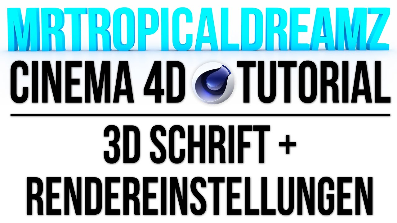 cinema 4d photoshop sch ne 3d schrift erstellen german tutorial youtube. Black Bedroom Furniture Sets. Home Design Ideas