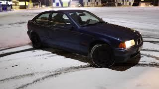 Bmw 316 compact E36 drift/snow drift slow motion