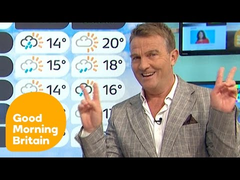 Bradley Walsh Attempts To Do The Weather And Gets Trapped In The GMB Studio! | Good Morning Britain