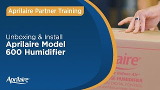 Unboxing & Install Aprilaire Humidifier 600