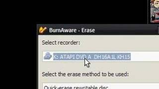 How To Erase A CD-RW/DVD-RW. Free, Quick, Easy.