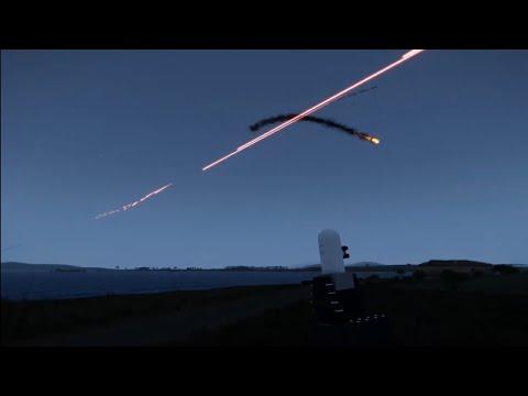 Sistema Phalanx Ciws De Defesa Antimíssil Em Ação