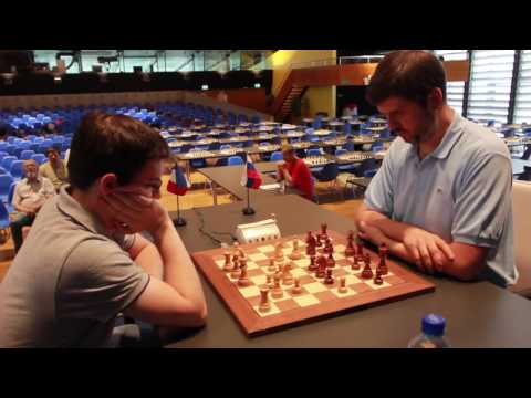 Biel Blitz Final, game 1. MVL-Svidler